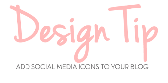 design tip social media icons
